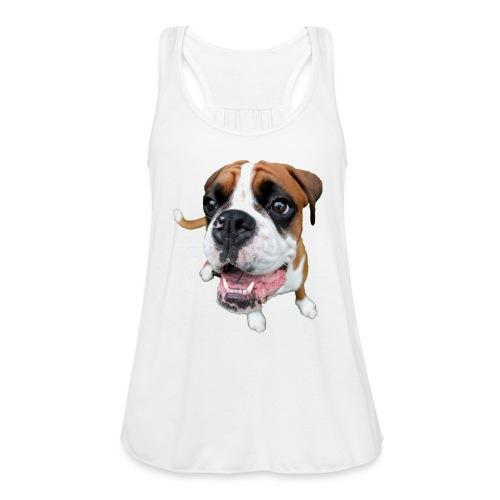 Boxer Rex the dog - Women's Flowy Tank Top by Bella