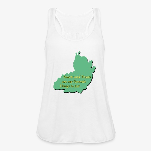 Sweets and Treats on the Chew Chew Train - Women's Flowy Tank Top by Bella