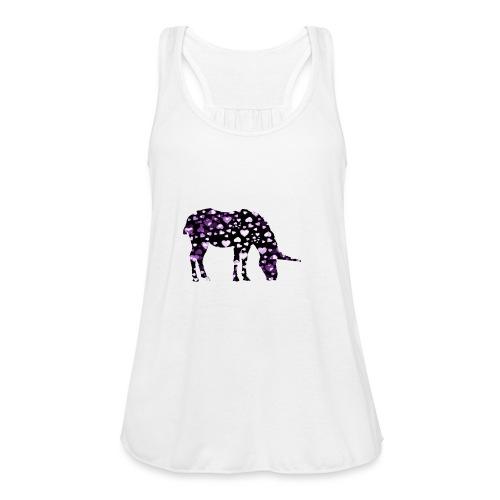 Unicorn Hearts purple - Women's Flowy Tank Top by Bella