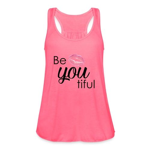 Be-You-Tiful Lip Logo - Women's Flowy Tank Top by Bella