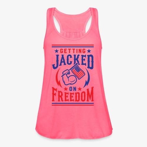 Getting Jacked On Freedom - Women's Flowy Tank Top by Bella
