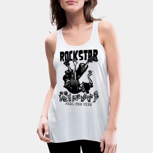 rockstar rock star - Women's Flowy Tank Top by Bella
