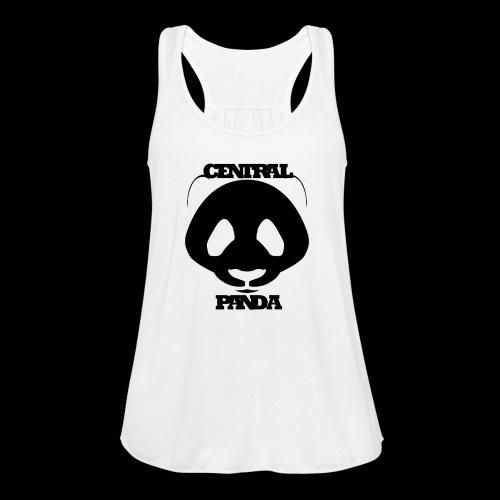 Central Panda in White - Women's Flowy Tank Top by Bella