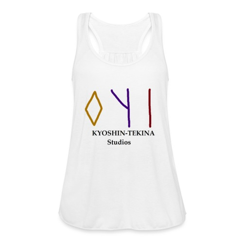 Kyoshin-Tekina Studios logo (black test) - Women's Flowy Tank Top by Bella
