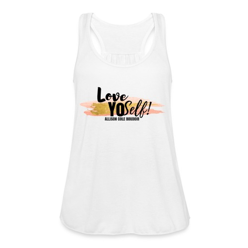Love Yourself - Black - Women's Flowy Tank Top by Bella