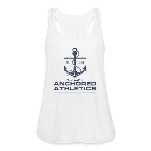 CrossFit Anchored Athletics Vertical Blue - Women's Flowy Tank Top by Bella