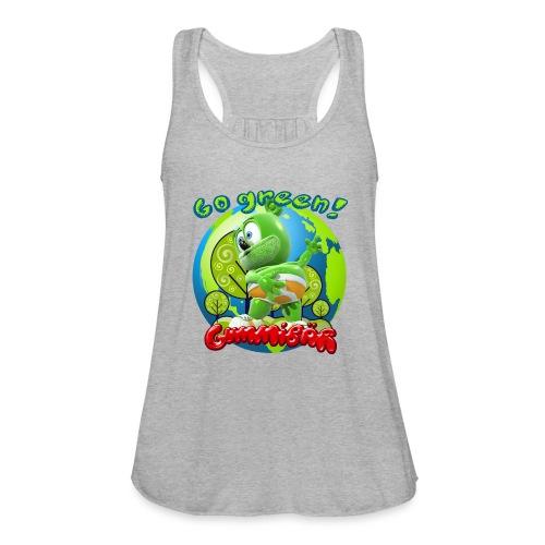 Gummibär Go Green Earth Day Earth - Women's Flowy Tank Top by Bella