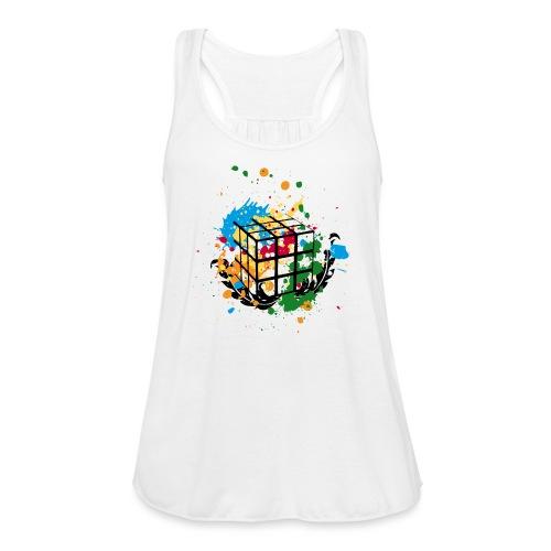 Rubik's Cube Colourful Splatters - Women's Flowy Tank Top by Bella