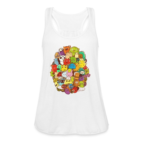 Doodle for a poodle - Women's Flowy Tank Top by Bella