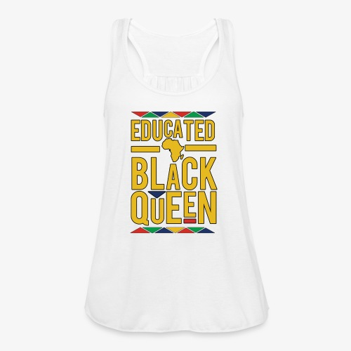Dashiki Educated BLACK Queen - Women's Flowy Tank Top by Bella