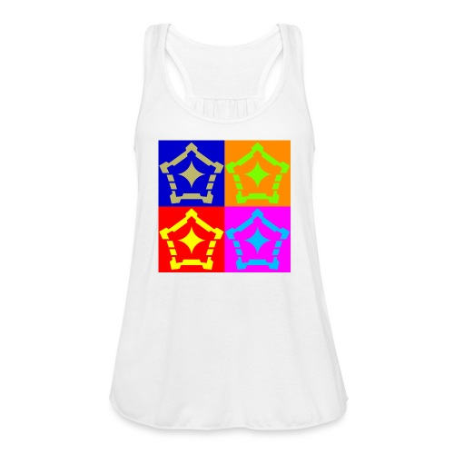 F Hypo Inside NonLayered gold vector ConvertImage - Women's Flowy Tank Top by Bella