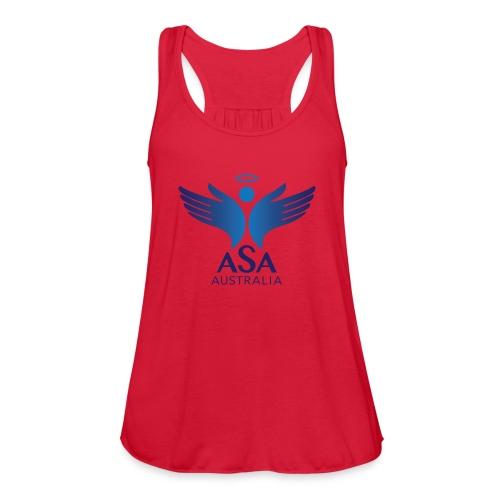 3459 Angelman Logo AUSTRALIA FA CMYK - Women's Flowy Tank Top by Bella