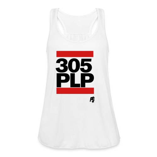 Black 305plp - Women's Flowy Tank Top by Bella