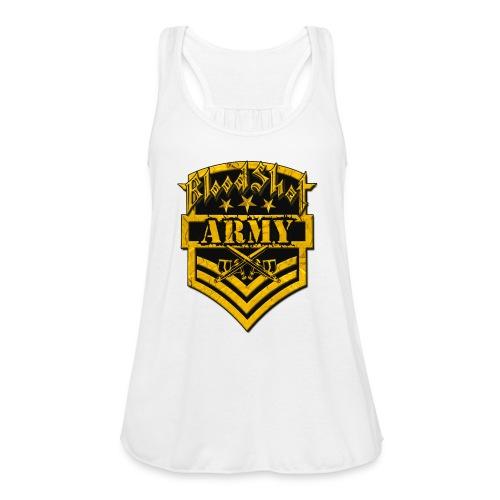 BloodShot ARMYLogo Gold /Black - Women's Flowy Tank Top by Bella