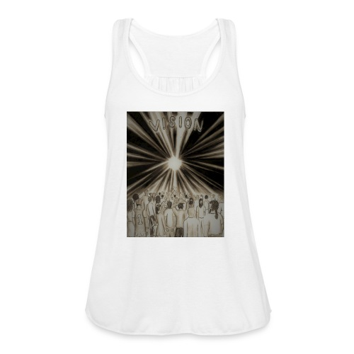 Black_and_White_Vision2 - Women's Flowy Tank Top by Bella