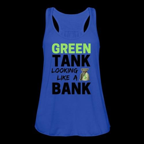 convert design to vector graphic blackgr - Women's Flowy Tank Top by Bella