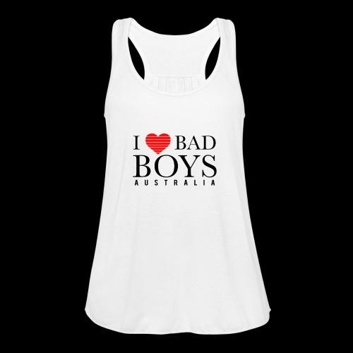 I LOVE BADBOYS - Women's Flowy Tank Top by Bella