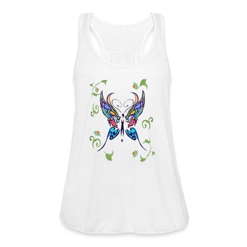 Bright Butterfly - Women's Flowy Tank Top by Bella