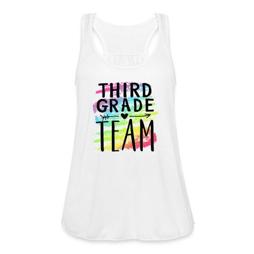 Third Grade Team Crayon Splash Teacher T-Shirts - Women's Flowy Tank Top by Bella