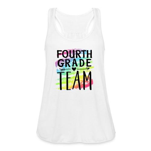 Fourth Grade Team Crayon Splash Teacher T-Shirts - Women's Flowy Tank Top by Bella