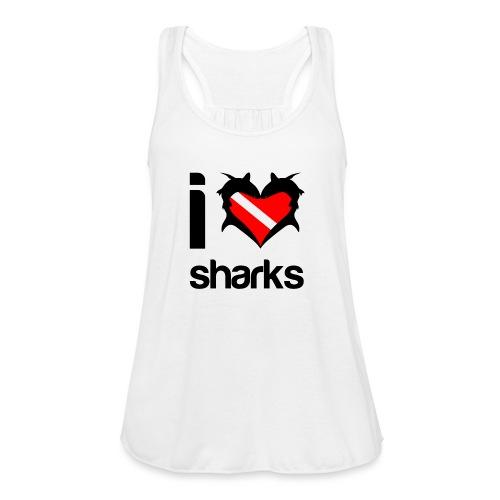 I Love Sharks - Women's Flowy Tank Top by Bella