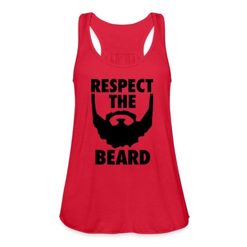 Respect the beard 05 - Women's Flowy Tank Top by Bella