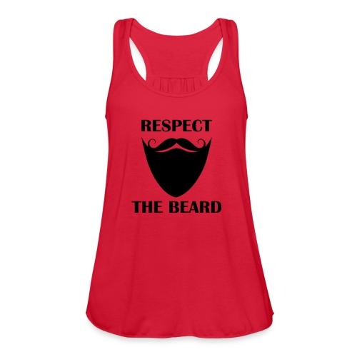 Respect the beard 07 - Women's Flowy Tank Top by Bella