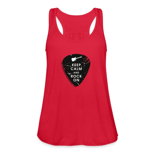 Keep calm and rock on - Women's Flowy Tank Top by Bella