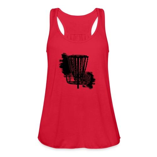 Disc Golf Basket Paint Black Print - Women's Flowy Tank Top by Bella