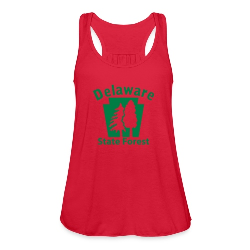 Delaware State Forest Keystone (w/trees) - Women's Flowy Tank Top by Bella