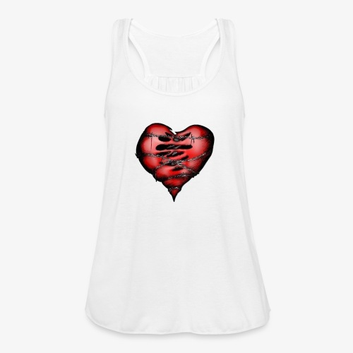Chains Heart Ceramic Mug - Women's Flowy Tank Top by Bella