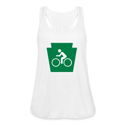 PA Keystone w/Bike (bicycle) - Women's Flowy Tank Top by Bella