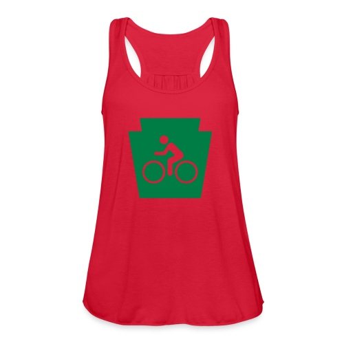 PA Keystone w/Bike (bicycle) - Women's Flowy Tank Top by Bella
