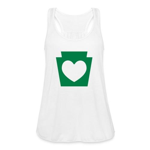 Love/Heart PA Keystone - Women's Flowy Tank Top by Bella