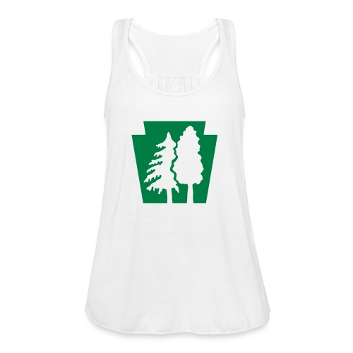 PA Keystone w/trees - Women's Flowy Tank Top by Bella