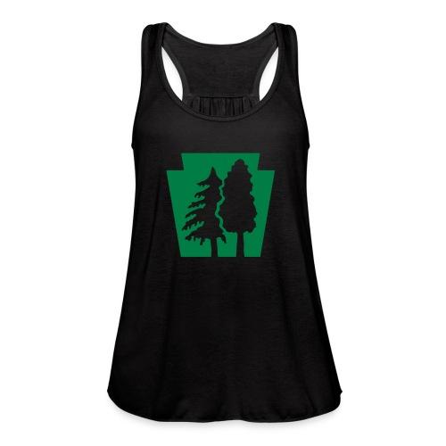 PA Keystone w/trees - Women's Flowy Tank Top by Bella