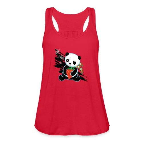 Cute Kawaii Panda T-shirt by Banzai Chicks - Women's Flowy Tank Top by Bella