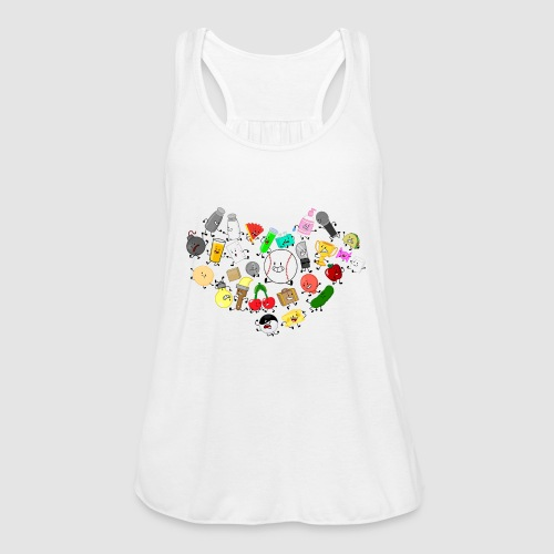 Inanimate Heart Color - Women's Flowy Tank Top by Bella