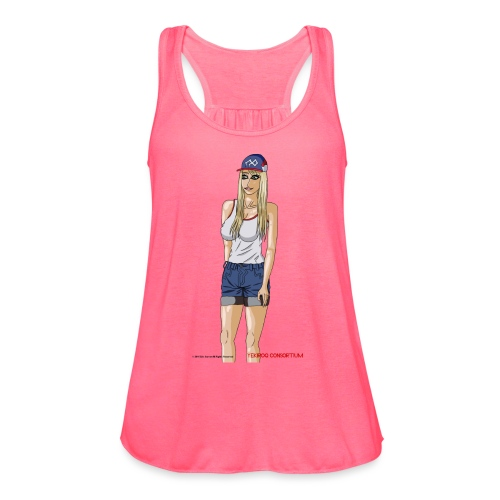 Gina Character Design - Women's Flowy Tank Top by Bella