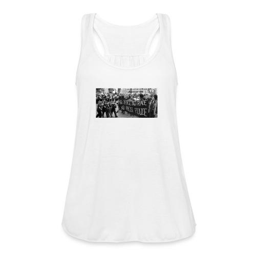 No Racist Cops - Women's Flowy Tank Top by Bella