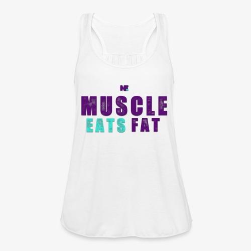 Muscle Eats Fat (Hornets Edition) - Women's Flowy Tank Top by Bella