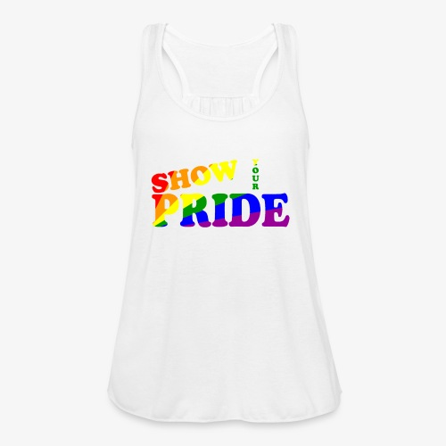 SHOW YOUR PRIDE A - Women's Flowy Tank Top by Bella