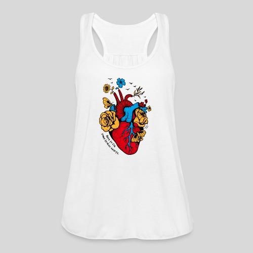 A Beautiful Heart - Women's Flowy Tank Top by Bella