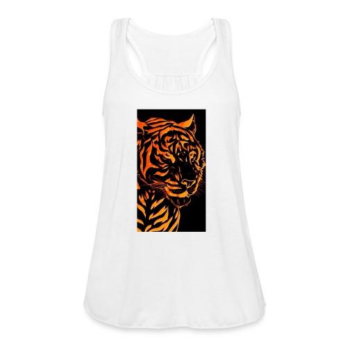 Fire tiger - Women's Flowy Tank Top by Bella