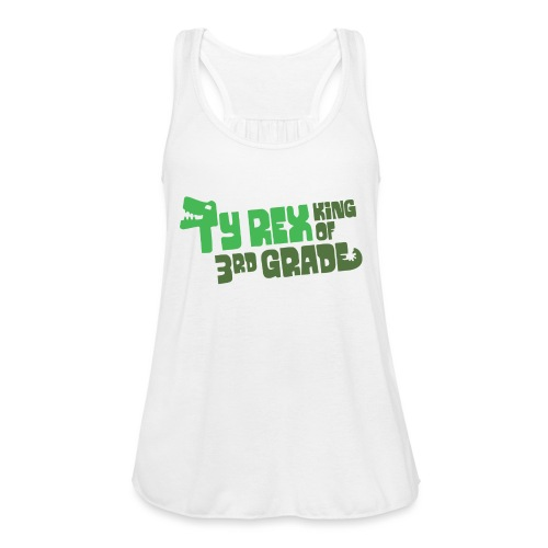Ty Rex King of 3rd Grade - Women's Flowy Tank Top by Bella