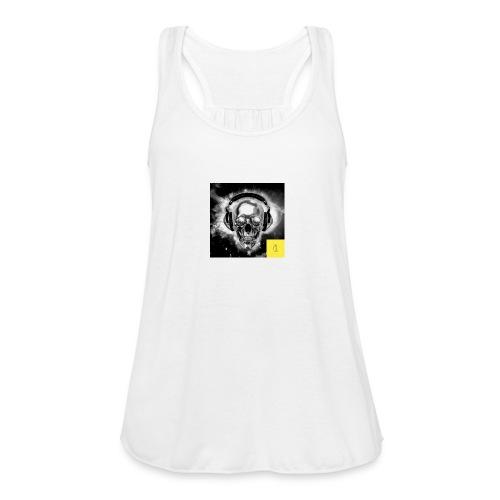 skull - Women's Flowy Tank Top by Bella