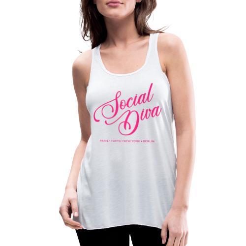 social fashion diva style - Women's Flowy Tank Top by Bella