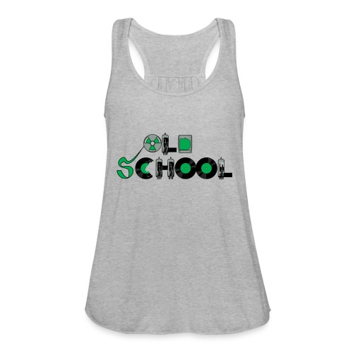 Old School Music - Women's Flowy Tank Top by Bella