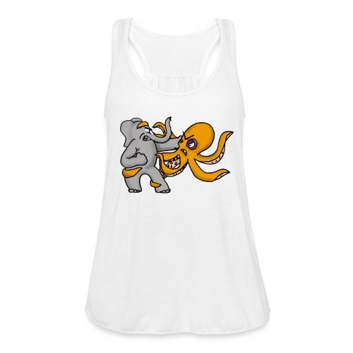 Elephant vs. Octopus Mug - Women's Flowy Tank Top by Bella