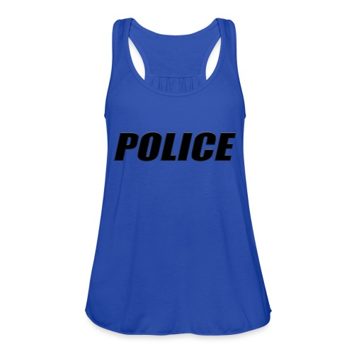 Police Black - Women's Flowy Tank Top by Bella